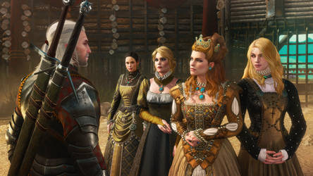 Blood and Wine Anna Henrietta and her entourage by Scratcherpen