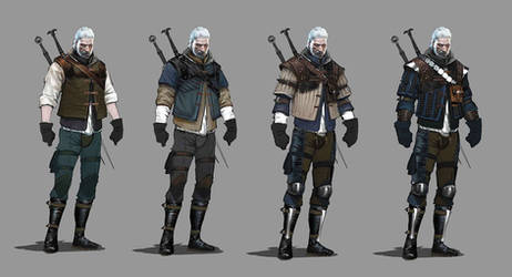 TW3 Wolf witcher armors concept art