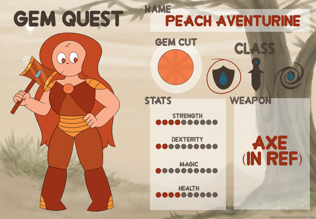 Peach Aventurine - Gem Quest by netflixandsapphire