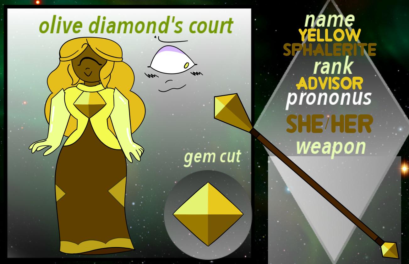 (OLD) OC Olive Diamond Court - Yellow Sphalerite by netflixandsapphire
