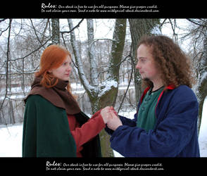 Lovers at winter 37 by Mithgariel-stock