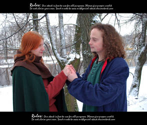 Lovers at winter 38 by Mithgariel-stock