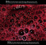 Bubbling blood texture
