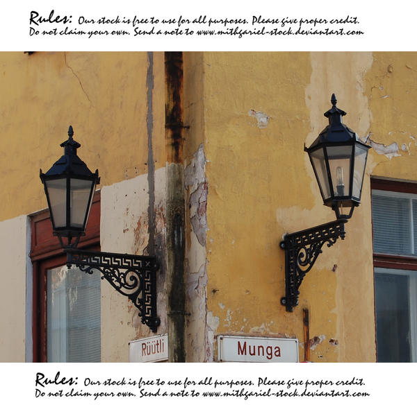 Lamps and lanterns of Tartu 3 by Mithgariel-stock