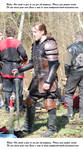 Warrior in leather armor