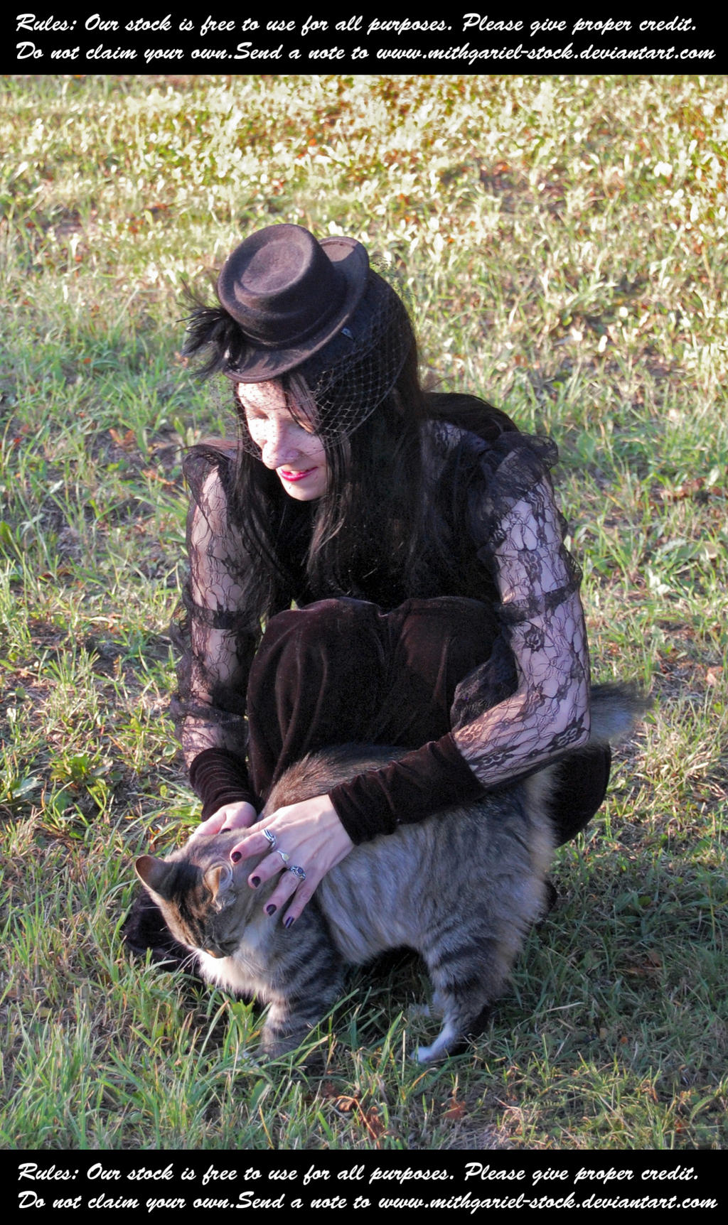 Lady With A Cat And A Hat (6) by Mithgariel-stock
