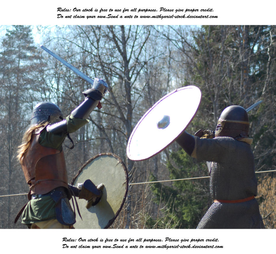 Vikings Do Battle (18) by Mithgariel-stock