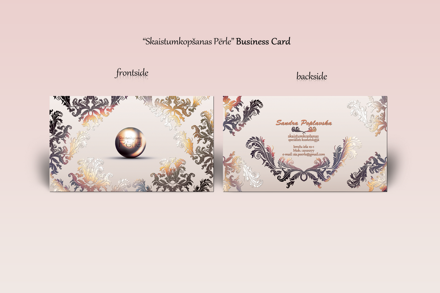 Beauty Salon Business Card by DeelishLatvia on DeviantArt