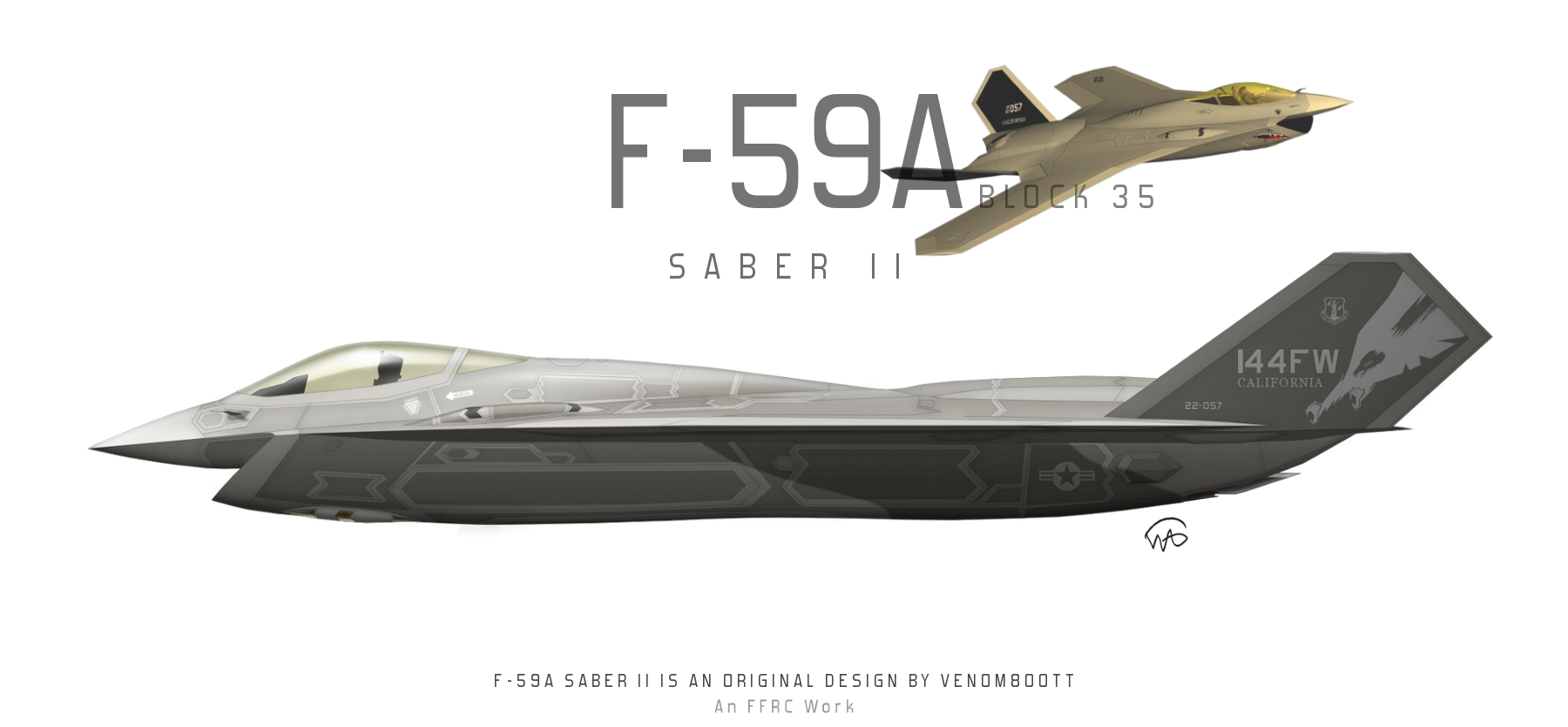 F-59A Saber II Block 35 by fighterman35
