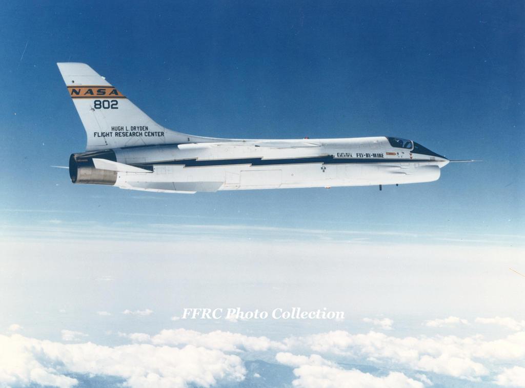 F-8C DFBW NASA#802 EC84-00997 by fighterman35