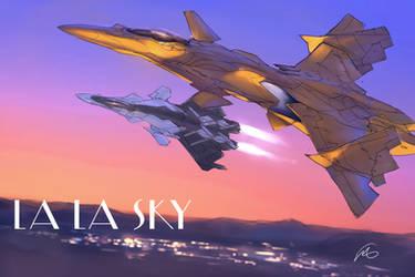 LA LA SKY by fighterman35