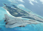 F-14A BuNo 158632 VF-211 NG 103 over NAS Midway