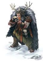 Dwarf Shaman by PointLineArea