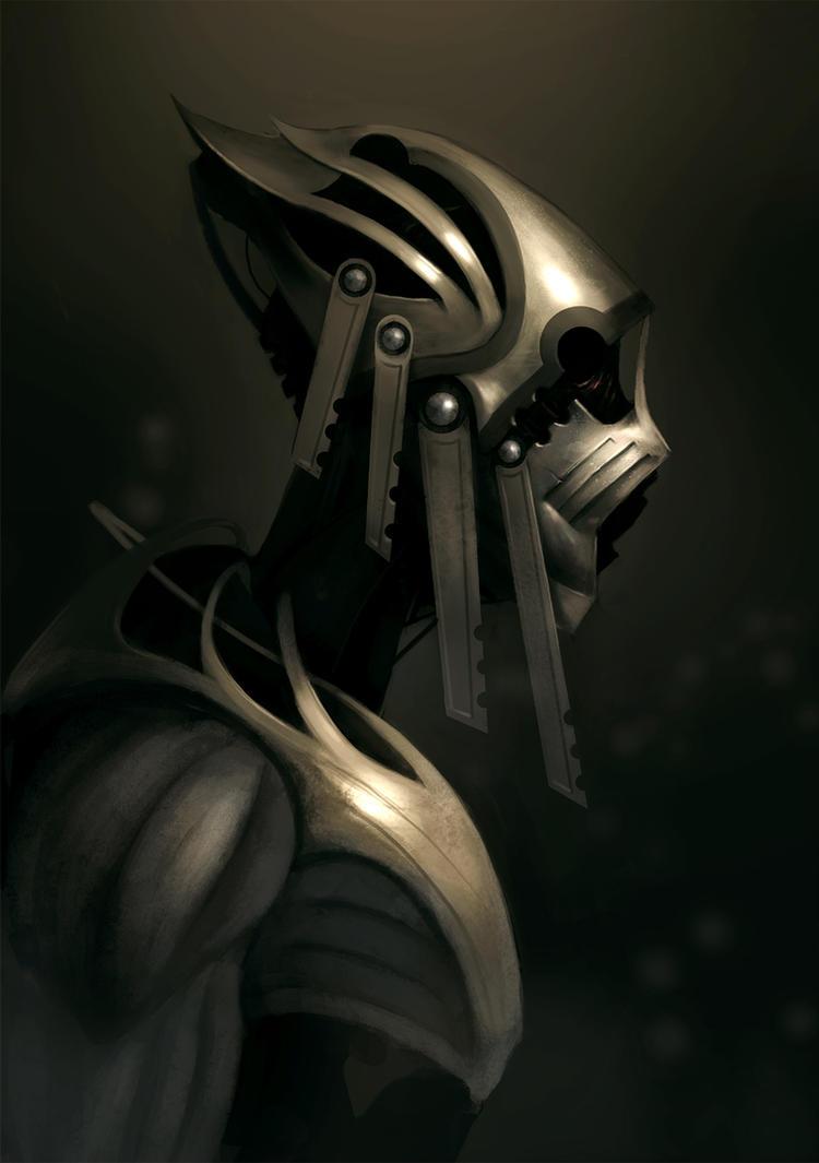 Cyborg Dude by PointLineArea
