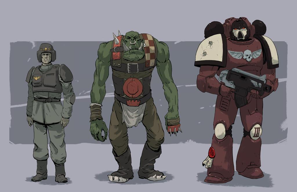 Warhammer 40k - comic version by PointLineArea