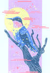 [commission] hummingbird moon