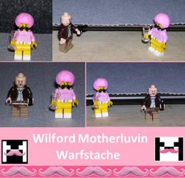 Wilford Motherluvin Warfstache Lego by LyndiaPinda