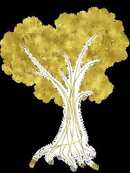 Heart Tree in Gold by Yapity