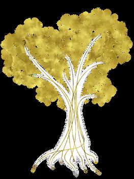 Heart Tree in Gold