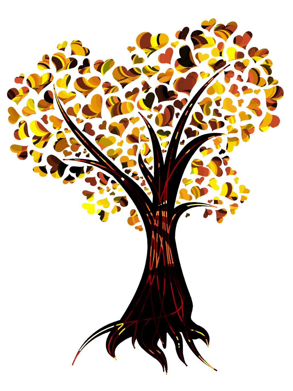 ... Heart Tree In Fall Colors By Yapity