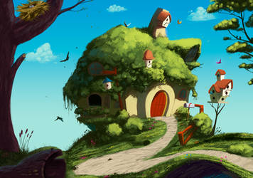 Fluttershy's home by iDFER