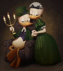 Donald and Daisy by iDFER