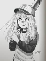 Baseball girl sketch 2