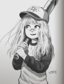 Baseball girl sketch 2