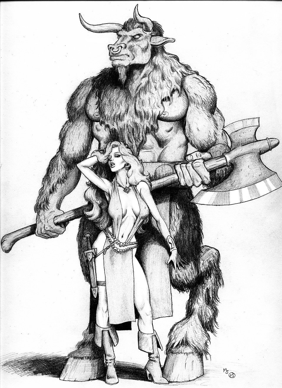 Garok Duhr and Joanna by mjarrett1000