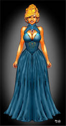 Peacock Blue Dress, a Gift from Skull by mjarrett1000