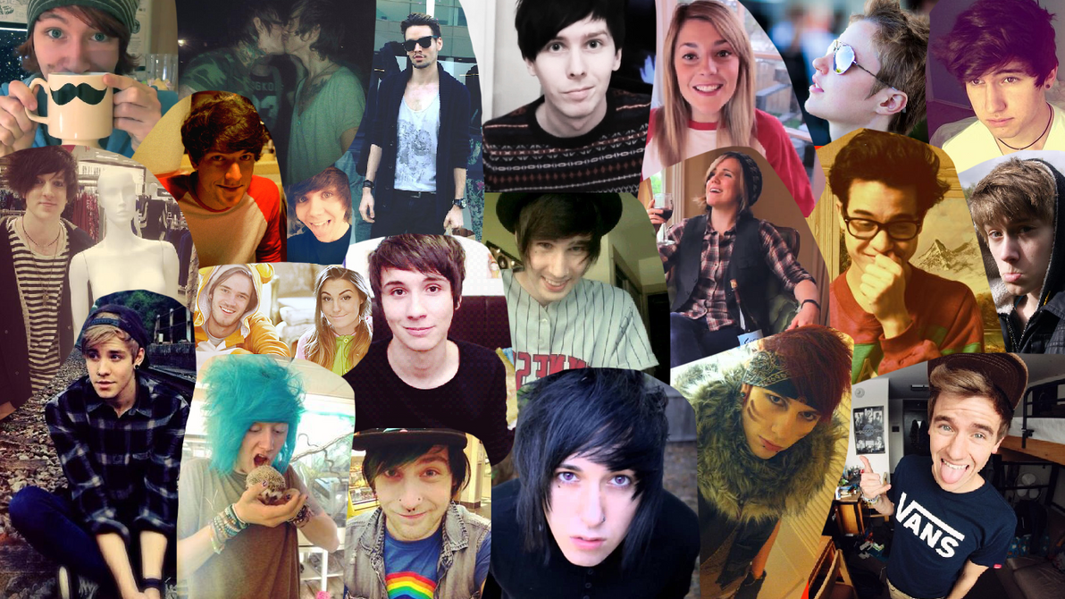 Group Of Youtubers Collage Wallpaper By