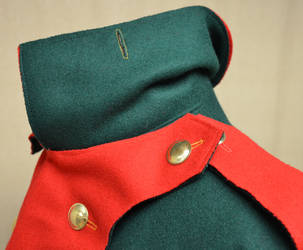1776 Hessian Jaegar uniform - collar detail 2 by magic-needle