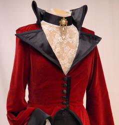 Evil Queen riding coat-front detail
