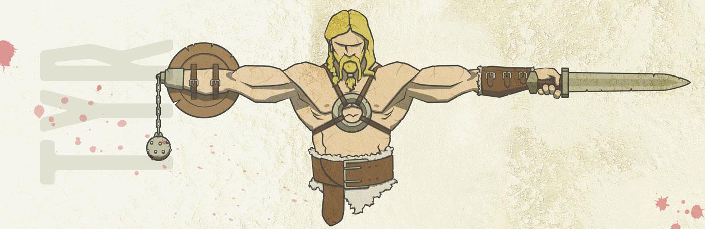 Image of god Tyr Norse mythology
