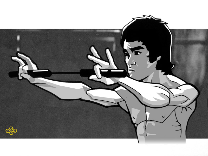 Bruce Lee by flashmcgee