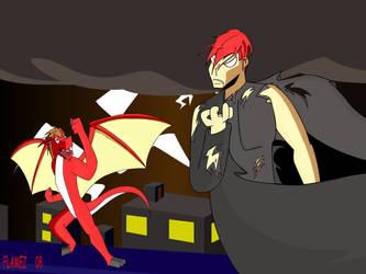 Epic battle by Flamez-the-dragon