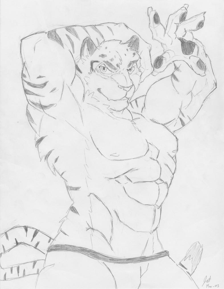 Smexy tiger dancer XD by jelonealan42