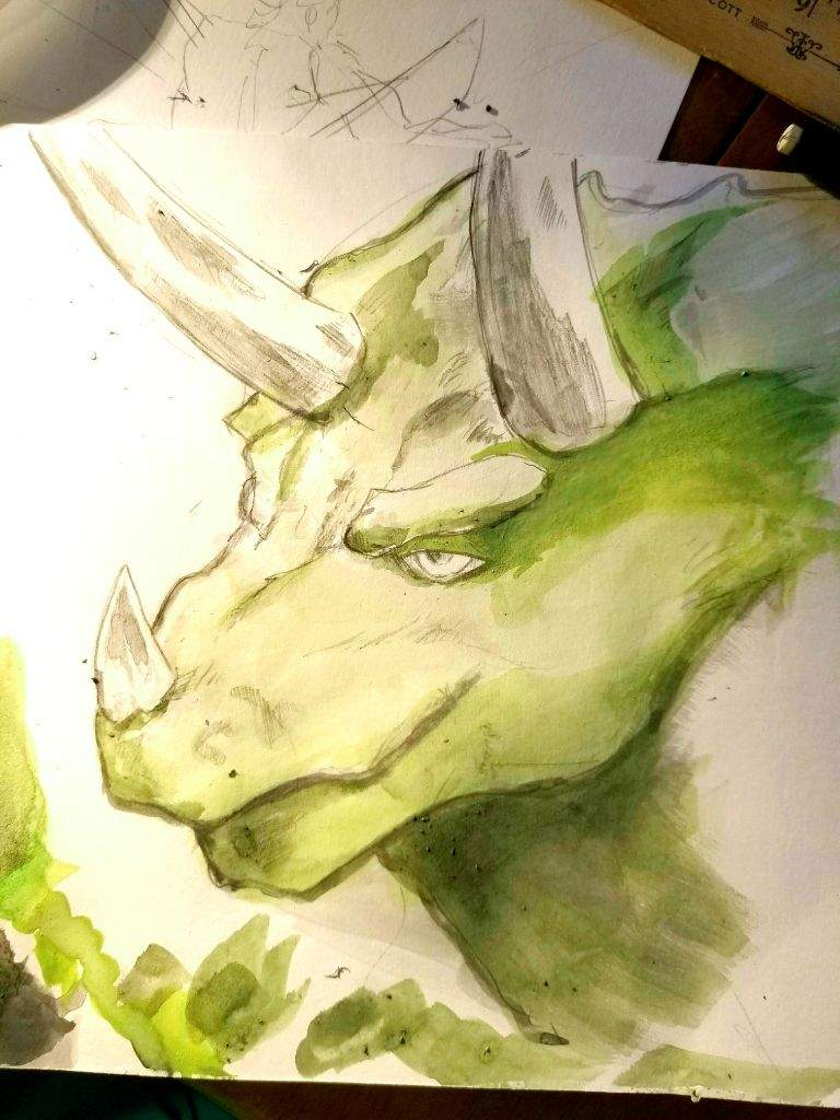 Dino Sketch by jelonealan42