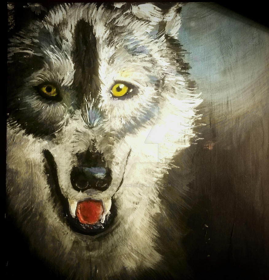 Wolf Painting by jelonealan42