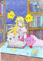 .:At the library:. by PrincessPeachFanLove