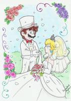 .:Finally married:. by PrincessPeachFanLove