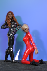 Fight006 by catsuitmodel