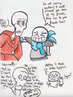 Papyrus just wants friends by marex184