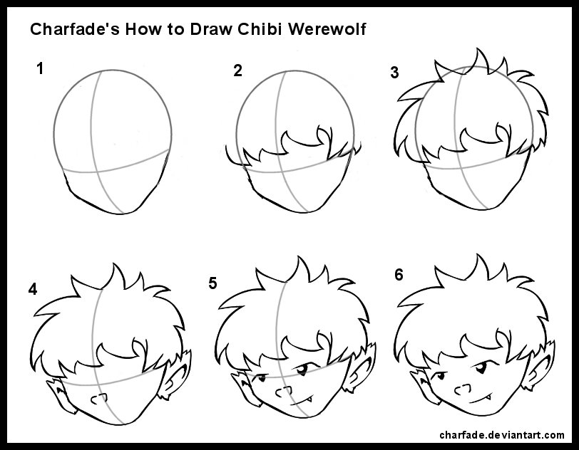 how to draw a werewolf face