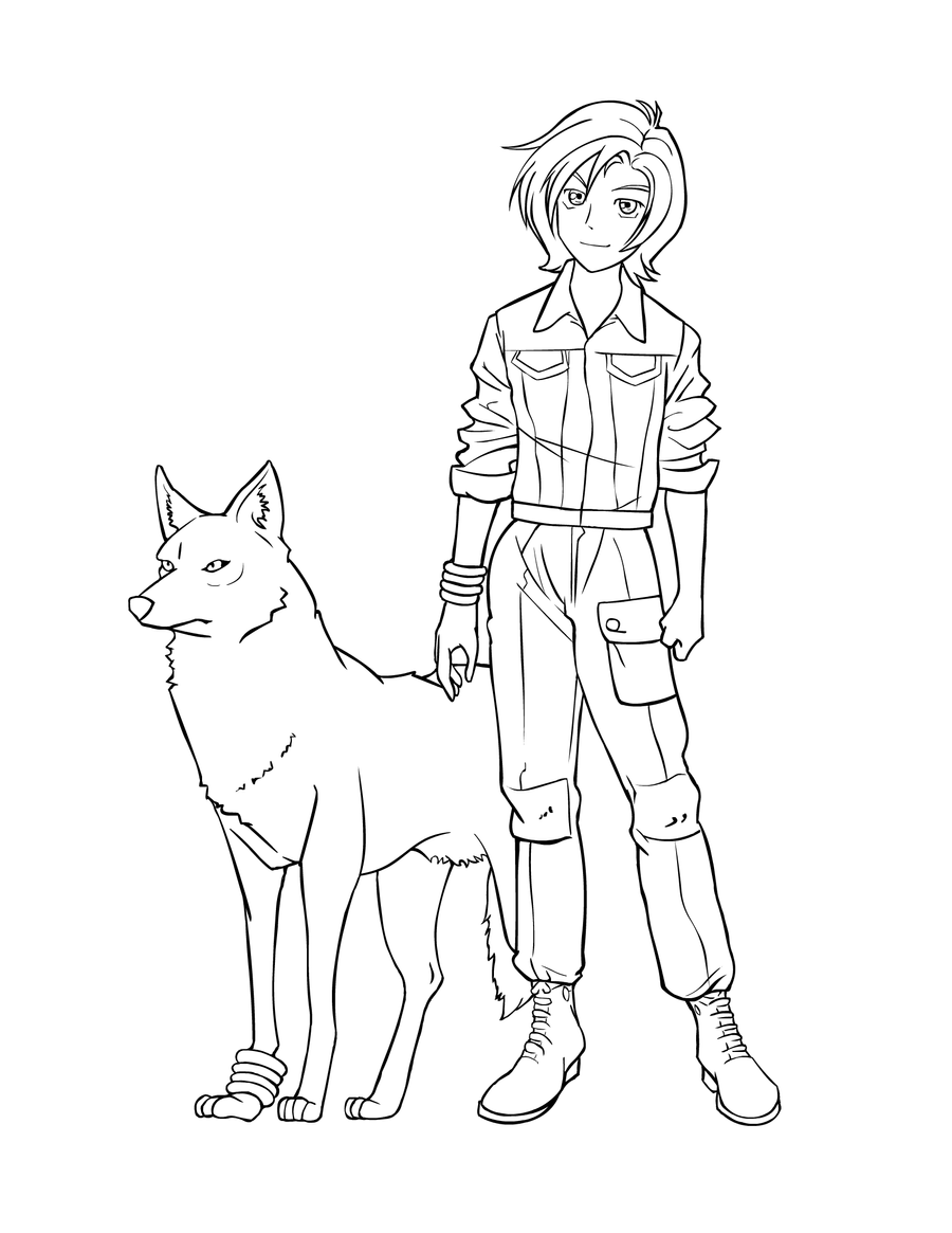 wolf rain coloring pages - photo#2