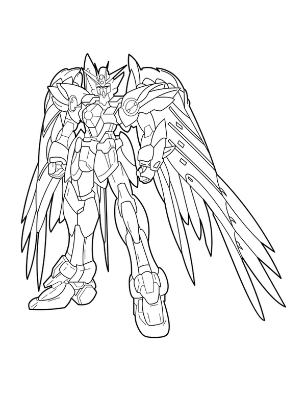 gundam wing coloring pages ink gundam wing zero by charfade on deviantart