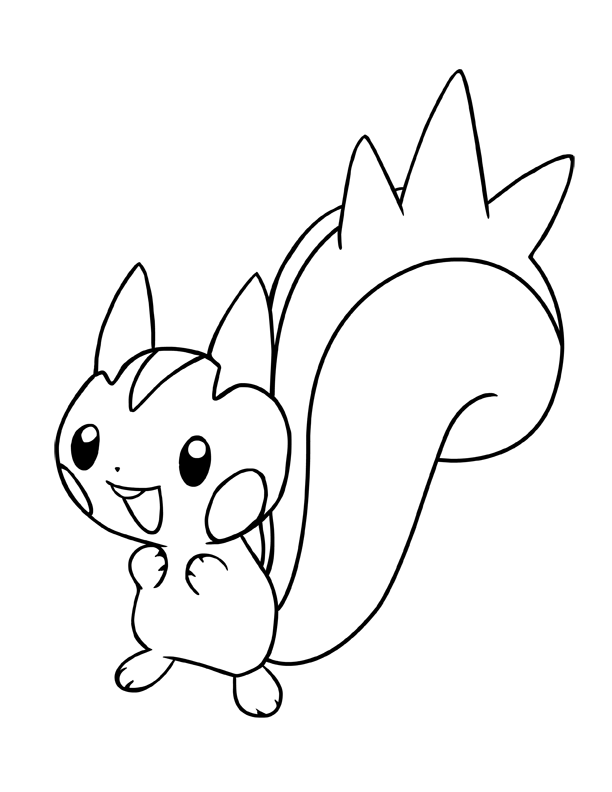 pachirisu coloring pages - ink pachirisu pokemon by charfade on deviantart
