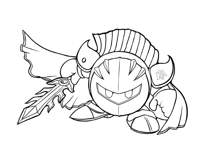 Kirby Kleurplaten Printen.Kleurplaat Clash Royale Mega Knight Clash Royale Coloring Pages To
