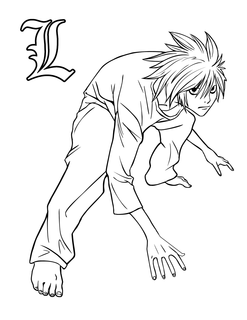 Death Note coloring pages to print