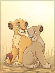 Cub Mufasa and Sarabi by charfade